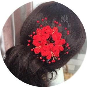Hell Girl Lycorisradiata Кимоно Цветы японский стиль невесты Косплей головной убор аксессуары для волос