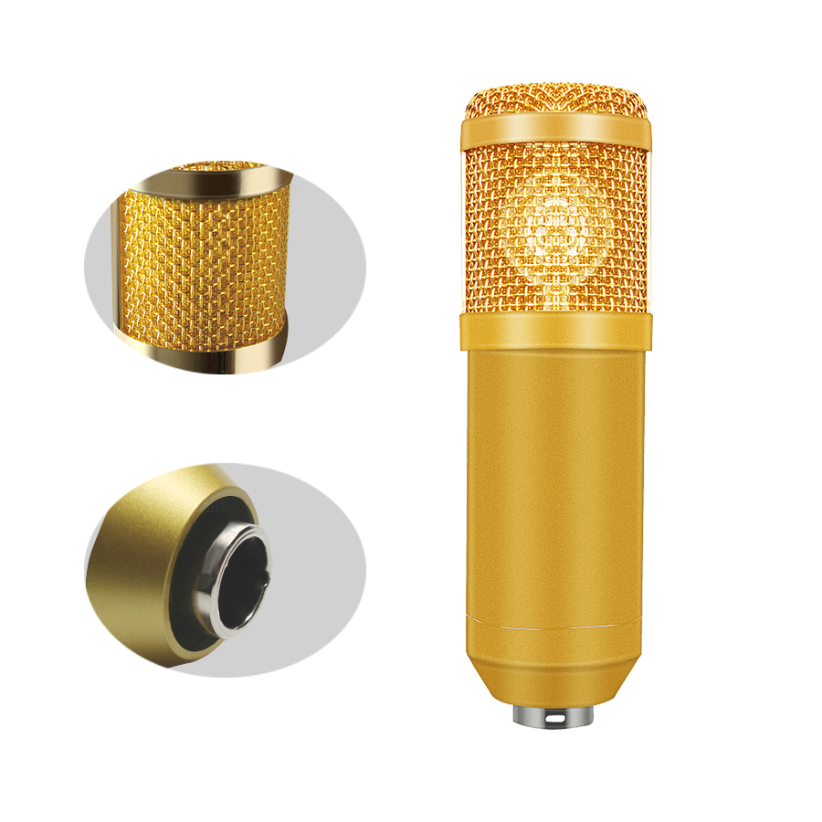 kits de microfone pacote microfone para gravação de estúdio computador