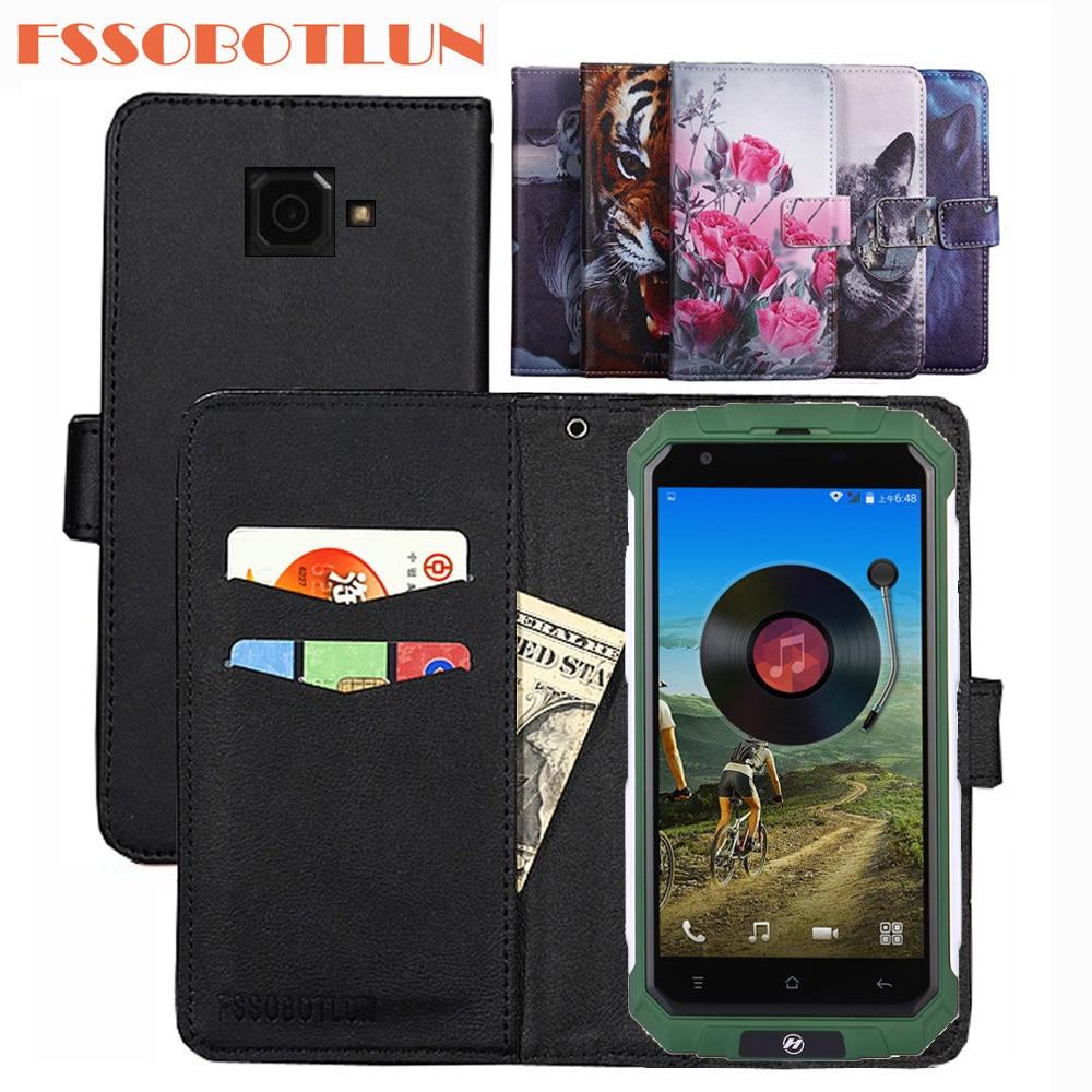FSSOBOTLUN For H-MOBILE V9 Plus Case PU Leather Retro Flip Cover Shell Magnetic Fashion Wallet phone Cases Kickstand Strap