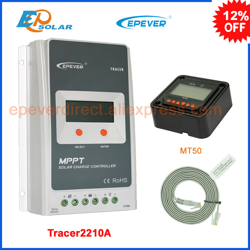 все цены на Tracer 2210A MPPT Solar Charge Controller 20A 12V 24V Auto Switch LCD Solar Panel Battery Regulator Charge Controller Max 520W онлайн