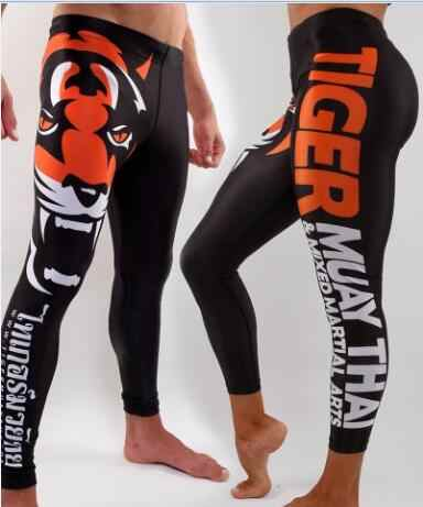 Wyoturn Disublimasikan Kebugaran Tiger K Berlaku MMA Boxeo Muay Thai Karya Seni Ruam Penjaga MMA Pakaian Olahraga Mma Tinju Celana Panjang 1 Pcs