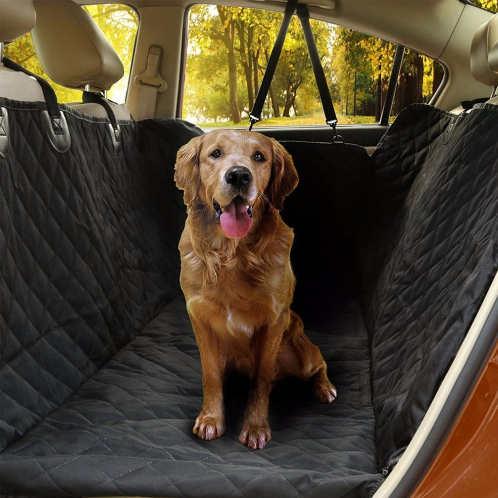 Car Rear Back Seat Carrier Cover Pet Dog Mat Blanket Cover with Ear Protective Waterproof Pad for Pets Cat Travelling