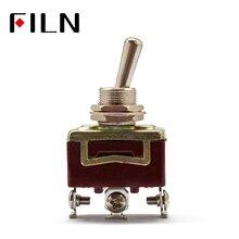 Серебряные контакты высокое качество 3 винтовой тумблер, вкл., вкл. Выкл., 15A 250 В