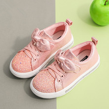 2019New Child Casual Shoe Leisure Sequins loafer girls shoes Bling kids sports for girl 3T 4T 5T 6T 7T 8T 9T 10T-14T