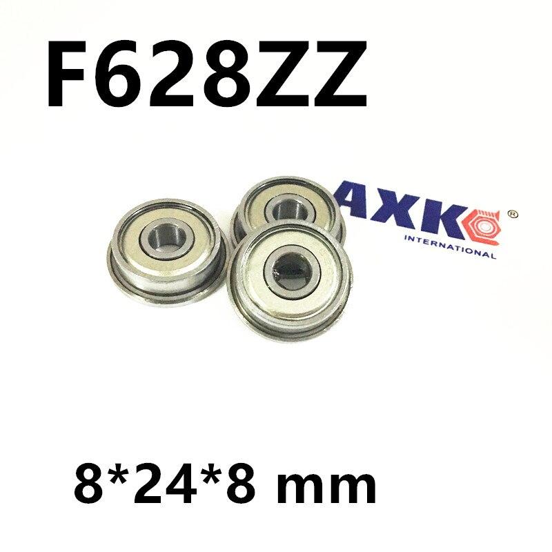 F628-2Z F628ZZ F628 zz Flanged Flange Deep Groove Ball Bearing for 3D printer F628ZZ  8*24*8 mm anet f623zz 10pcs deep groove flange ball bearing for 3d printer