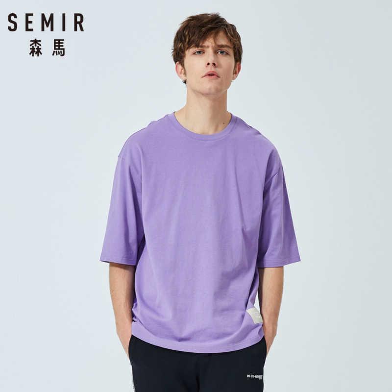 セミール夏半袖 Tシャツ男性 2019 新ラウンドネック綿底入れ tシャツルーズトレンド印刷 tシャツ