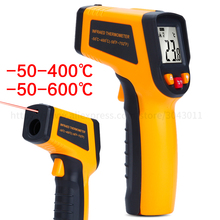 цена на Non-contact Handheld Infrared Temperature Gun Industrial Measuring Water/Oil Food Kitchen Electronic High Thermometer