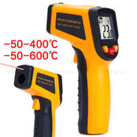 Non-contact Handheld Infrared Temperature Gun Industrial Measuring Water/Oil Food Kitchen Electronic High Thermometer