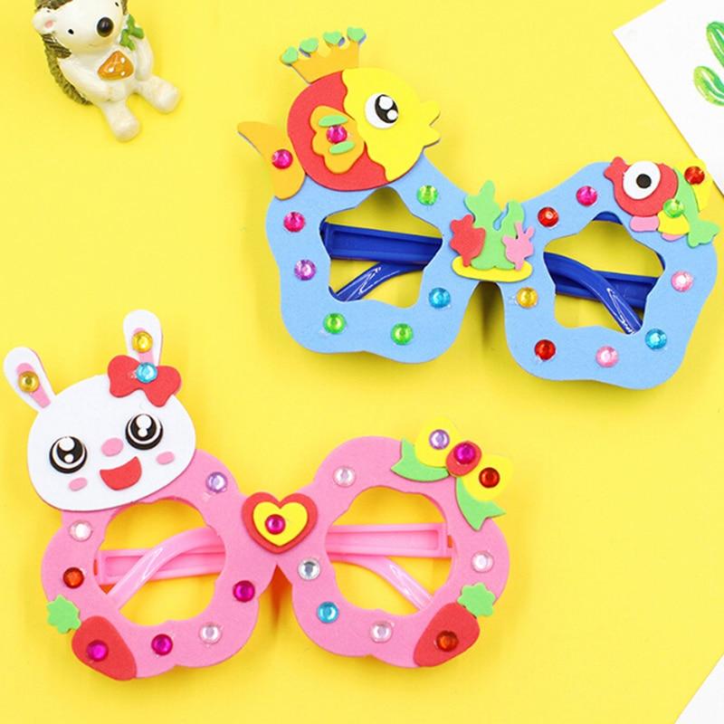 Diy Craft Kit Creatieve Kleuterschool Educatief Speelgoed Voor Kinderen Verjaardagsfeestje Cartoon Eva Foam Sticker Bril Gedistribueerd Worden Over De Hele Wereld