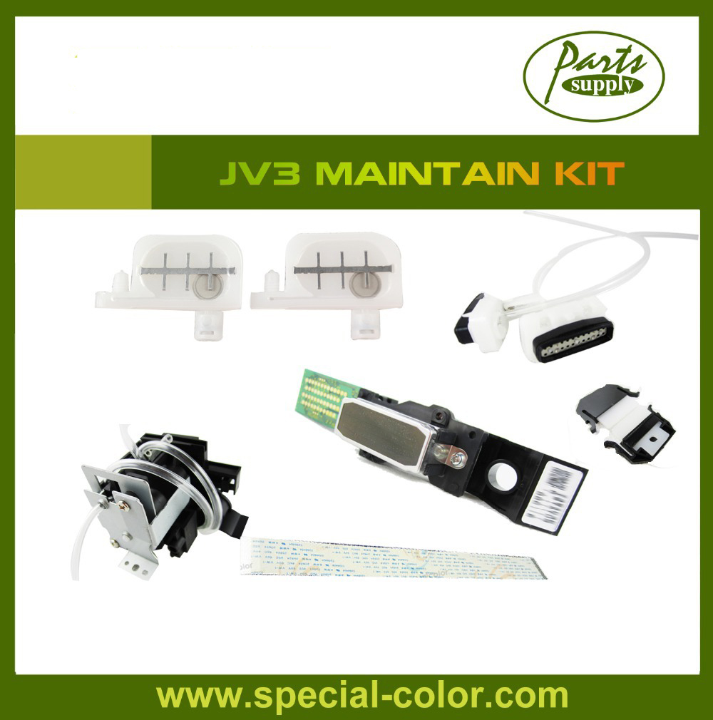 Mimaki JV3 Maintain Kit Original DX4 Solvent Printhead+Solvent Ink Pump+23cm Head Cable+Small Damper+Cap Top+Wiper best price of mimaki jv3 solvent head unlocked