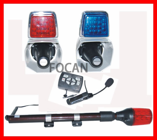Полицейское оборудование с динамиком сирены светодио дный Предупреждение льной лампой для мотоцикла