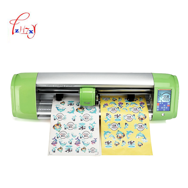 Desktop Plotter cutting plotter CA24 sticker plotter cutter with cutting function Max cutting width 610mm 220V/110V 1pc 1 cutting blade holder for graphtec cb09 silhouette cameo holder 15pcs blades vinyl cutter plotter 30 degree free shipping