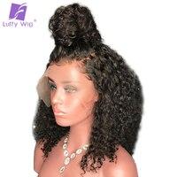 Луффи странный вьющиеся 5*4,5 шелк базы Full Lace парики с ребенком волос предварительно сорвал бразильский натуральные волосы 14 24 ''130% плотность
