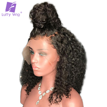 Luffy Kinky Curly 5 4 5 Silk Base Full Lace Wigs With Baby Hair Pre Plucked