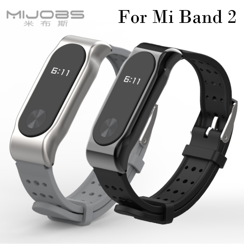 For Xiaomi Mi Band 2 Bracelet Strap Sports Wristband Metal Strap Wristband Replacement Straps Accessories For Mi Band 2