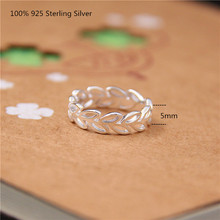 100% 925 Sterling Silver Fashion Rings Women Hollow Out Olive Leaf Oppen Ring for Women Fashion Jewelry delicate solid color hollow out leaf cuff ring for women