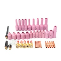 High Quality New Product 44 Pieces TIG Kit Gas Lens For WP 17 18 26 Torch