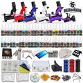 Complete Tattoo Kit 5 Rotary Tattoo Machines Gun 54 color Ink Tattoo Power supply