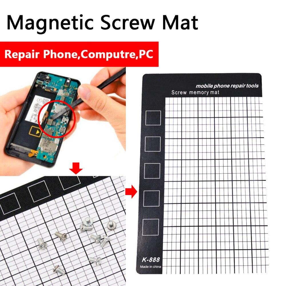 Magnetic Screw Mat Magnetic Working Pad Memory Chart Work Pad Mobile Phone Repair Tools 145 x 90mm Hand Tool SetMagnetic Screw Mat Magnetic Working Pad Memory Chart Work Pad Mobile Phone Repair Tools 145 x 90mm Hand Tool Set