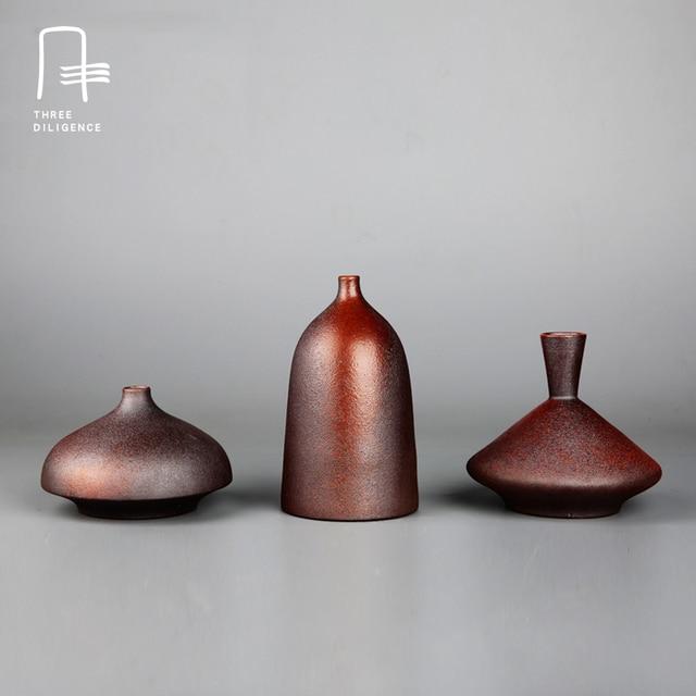 keramik blume pflanzen t pfe chinesische vase kleine vintage flaschen keramik mini dekoration. Black Bedroom Furniture Sets. Home Design Ideas