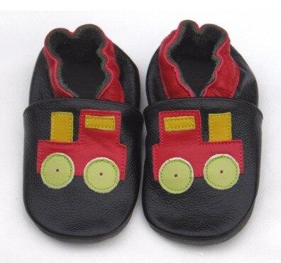 Стильные, гарантированные,, мягкая подошва, натуральная кожа, детская обувь/обувь для первых шагов - Цвет: Черный