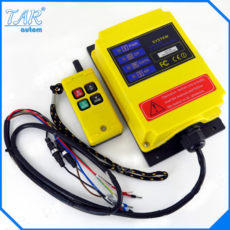 Telecontrol F21-2S industrial nice radio remote control AC/DC universal wireless control for crane 1transmitter and 1receiver free shipping rf21 e1b industrial universal wireless radio remote control for overhead crane