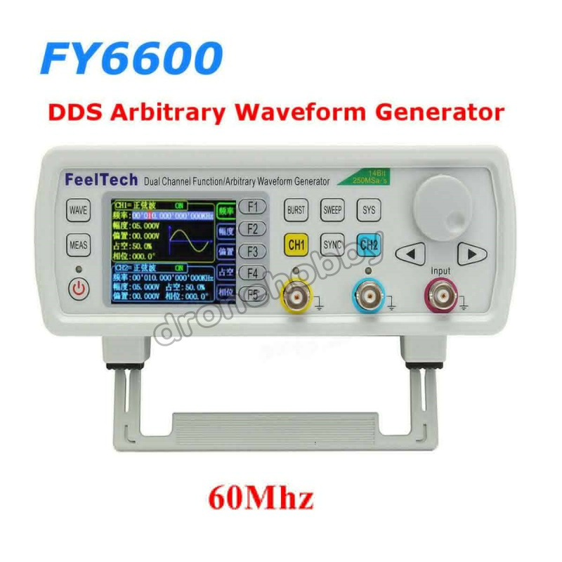 FY6600 60MHz Dual Channel DDS Function Arbitrary Waveform Generator/pulse source/Signal Generator Frequency Meter 14Bit 250MSa/s купить