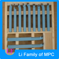 10*10mm 11pieces Precision Hard Alloy Turning Tool, Lathe Tool Kits Cutter, Cutting Tools With Wooden Case