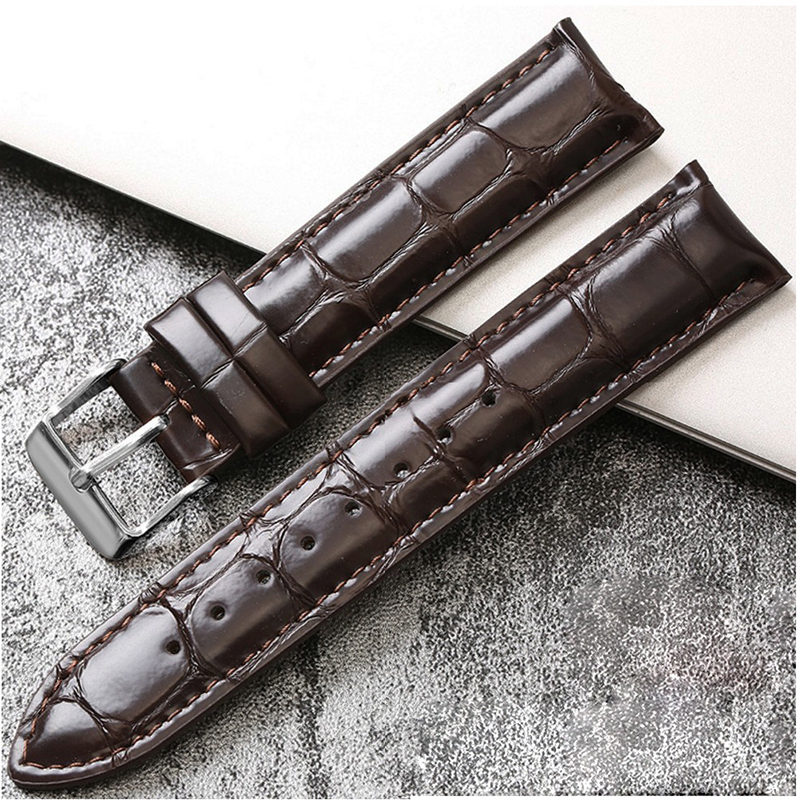Fashion Black Brown Watchband genuine leather For DW watch band 17mm 18mm 19mm 20mm Accessories Crocodile pattern Watch Strap genuine calf leather watch band strap butterfly buckle watchband 18mm 20mm 22mm black brown crocodile pattern watch accessories