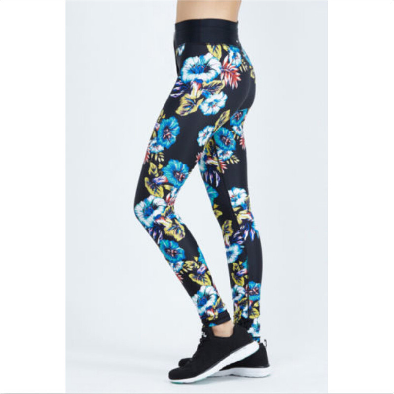 15f16b4572d30 Women Sexy Yoga Pants flower Printed Dry Fit Sport Elastic Fitness Gym  Pants Workout Running Tight Leggings Female Trousers-in Yoga Pants from  Sports ...
