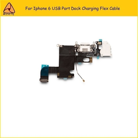 2Pcs/Lot New Phone Port Charging Flex for Iphone 6 6g 4.7 USB Dock Charger Port Connector Audio Jack headphone Flex Cable Islamabad