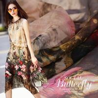 Spring And Summer Silk Chiffon Cloth Material 100 Silk Handmade DIY Dress Dress Shirt Fabric
