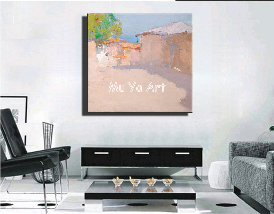 Huge Abstract modern canvas wall hand famous artist font b Knife b font paint oil painting