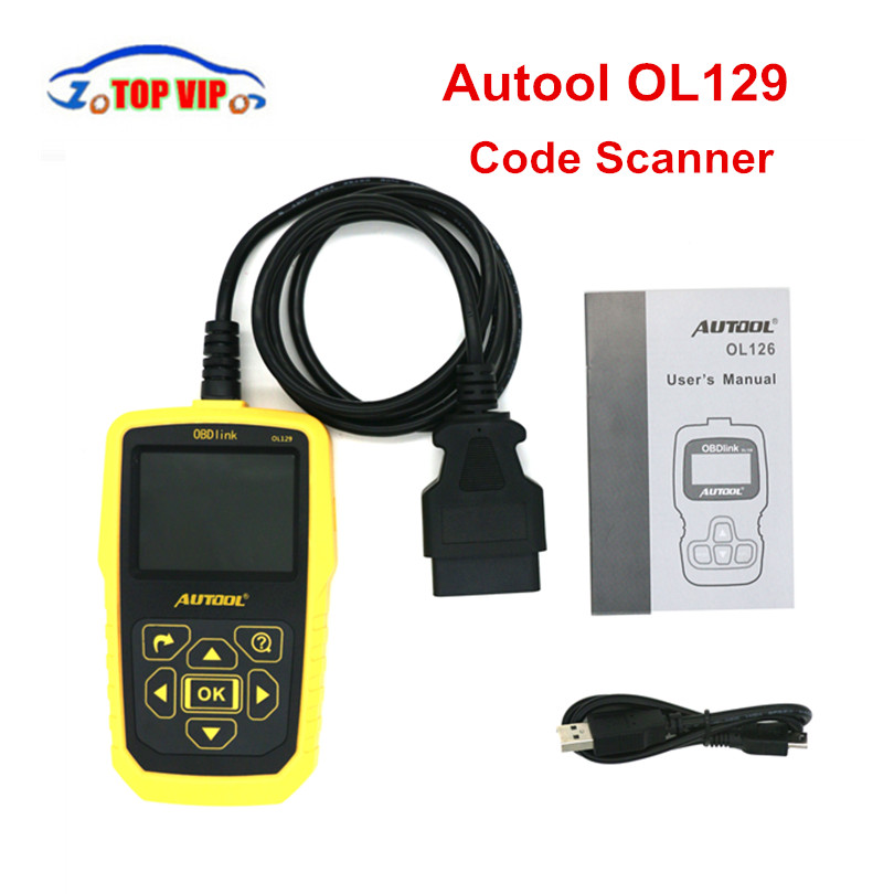 Newest AUTOOL OL129 OBD2 Code Scanner Battery Monitor Diagnostic Tool OBD2 Interface Live Data Stream CAN Universal Tool