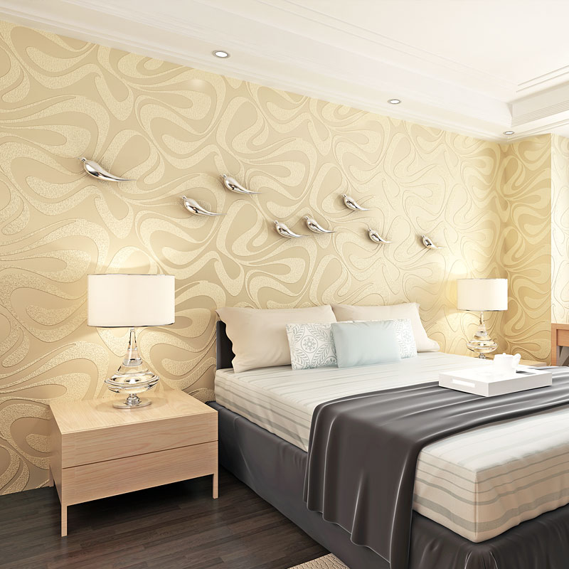 3D Embossed Fashion Wallpaper Geometry for Living Room Wall covering Velvet Wallpaper Background wall papel de parede geometrico in Wallpapers from Home Improvement