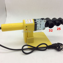 Полностью автоматический нагревательный PPR сварочный аппарат для труб, пластиковый сварочный аппарат переменного тока 220 в 600 Вт, 20-32 мм сварочный пластик