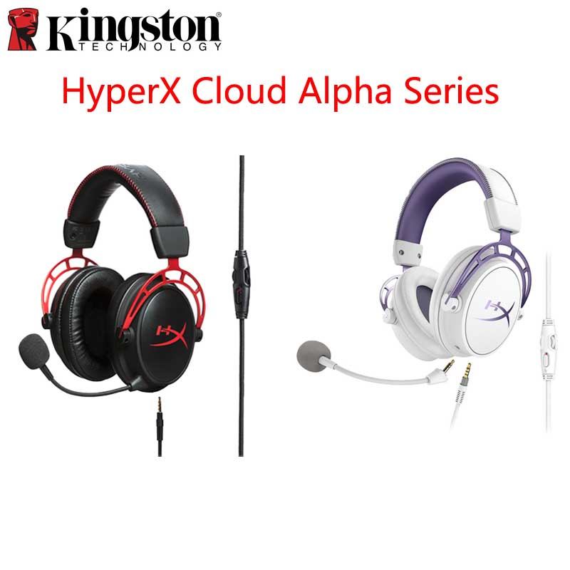 Original Kingston HyperX Cloud Alpha Limited Edition E sports Gaming Headset With a microphone Headphones For