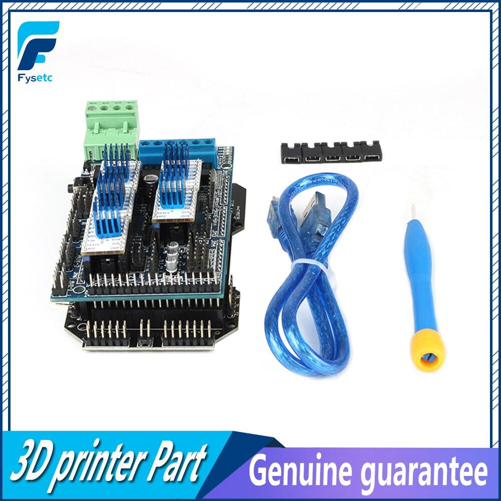RE-ARM 32Bit carte de contrôle mise à niveau Mega 2560 R3 + 5 pièces TMC2130 v1.0 moteur pas à pas pilote + rampes 1.5 panneau de commande imprimante 3D partie - 2