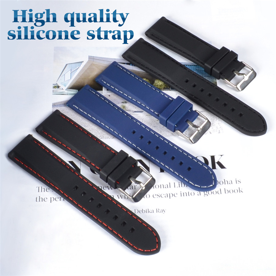 18mm 20mm 22mm Silicone Strap Rubber Watchband for Seiko 5 SRP SKX007 PROSPEX PADI Casio Edifice Watch Bracelet Band Sports Man