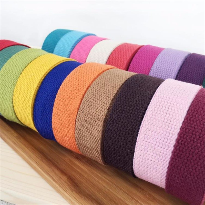 New 25mm Canvas Ribbon Belt Bag Webbing Lable Ribbon Bias