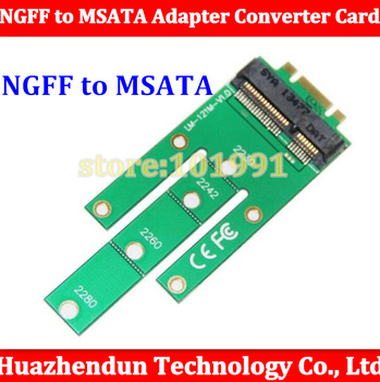 Free shipping New NGFF M2 B SATA-Based Solid State Drives to MSATA Adapter Converter Card for Windows