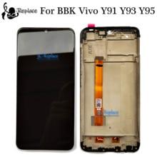 100% ทดสอบสีดำสำหรับBBK Vivo Y91 Y91i Y91c Y93 Y93s Y93st Y95 MT6762 จอแสดงผลLcd + หน้าจอสัมผัสDigitizerประกอบกับกรอบ