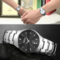 Lovers Fashion Casual Quartz Watch For Men And Women Watches Relogio Masculino Silver Stainless Steel Mens Wristwatches