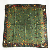 100 Silk Women Square Scarf Material Twill Silk Size 88x88 Thickness 14mm Blackish Green