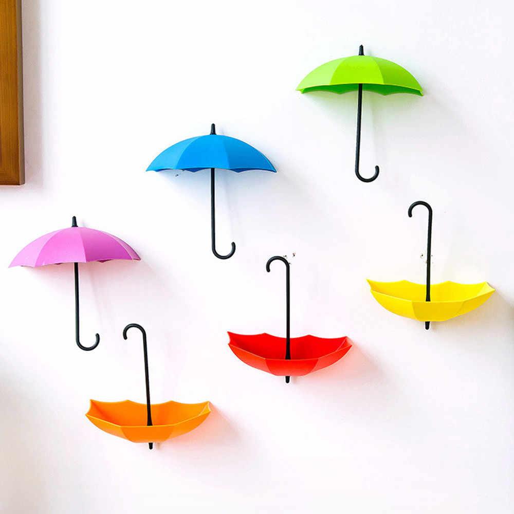 Dropshipping 3 sztuk/zestaw śliczny parasol uchwyt ścienny brelok haczyki na ścianę Organizer trwały