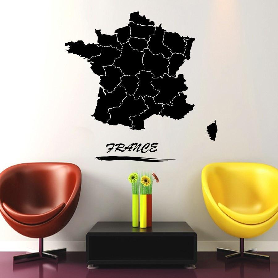 Frankreich Karte Wandtattoo World Travel Aufkleber Für Wohnzimmer