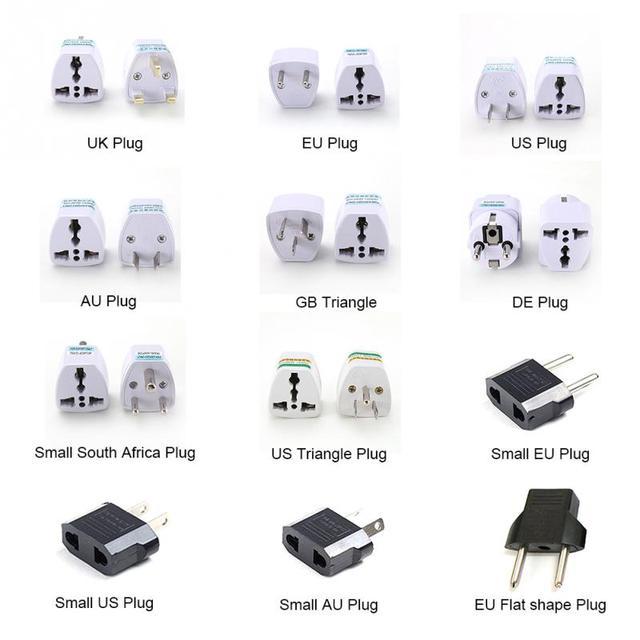 Chất Lượng cao Thực Tế Phổ EU AU ANH đến MỸ USA AC Power Adapter Travel Cắm Chuyển Đổi 2 Phẳng Pin