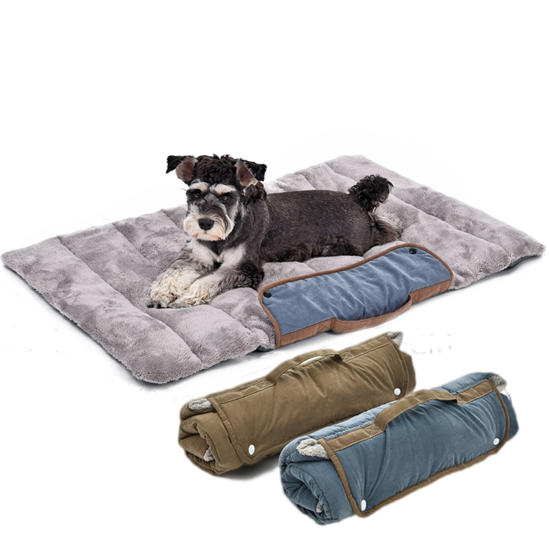 Foldable Dogs Pets Mat forTravel Cat Dog Bed Puppy Soft ...