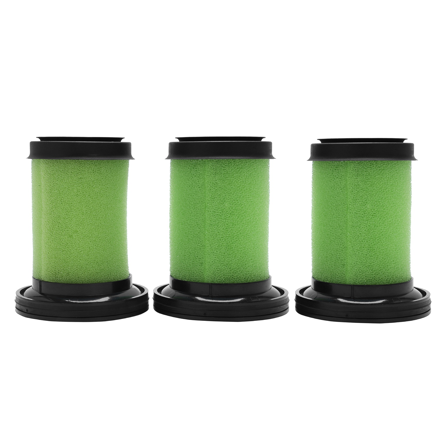 Hot Sale Washable Foam Filters for GTech Multi Cordless Vacuum Cleaner (Green/Black, Pack of 3) vacuum pump inlet filters f007 7 rc3 out diameter of 340mm high is 360mm