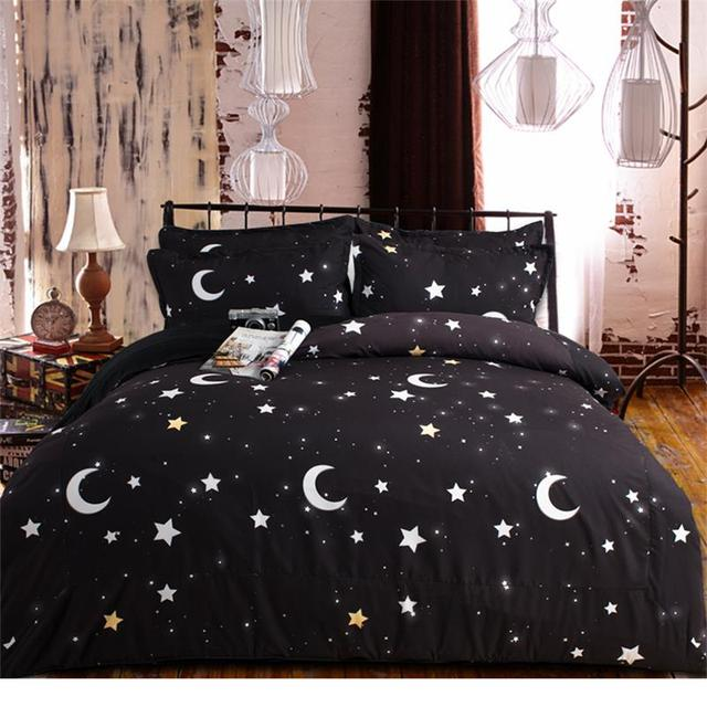Brand new 2016 Moon and Stars Bedding Set Twin Queen King Size Duvet Cover  GD94